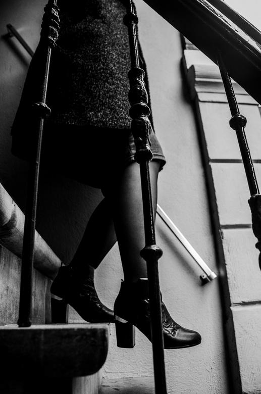 Stairs in the city  - Ter inspiratie van Ralph Gibson.