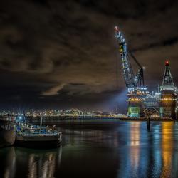 Havens bij nacht