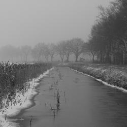 Even koud en stil in Drenthe
