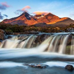 Gouden ochtendlicht in Schotland