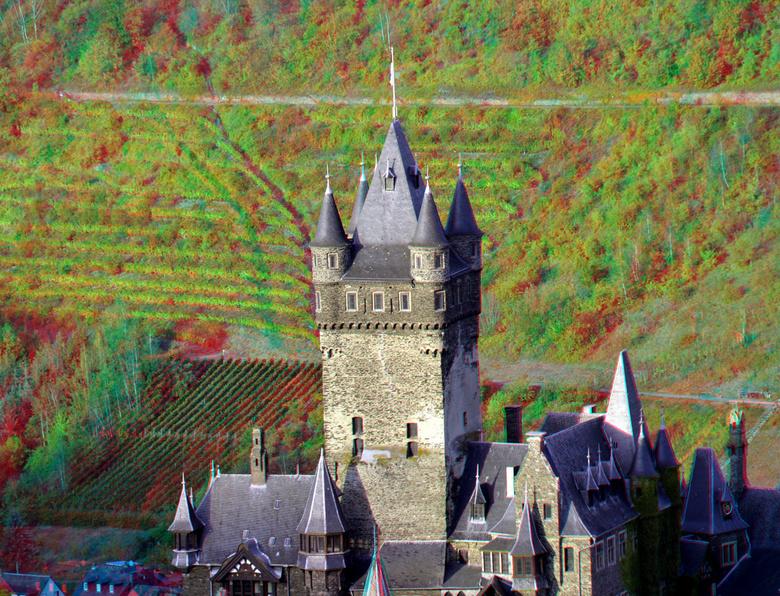 Reichsburg Cochem 3D - Reichsburg Cochem 3D<br /> anaglyph stereo red/cyan