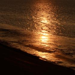 zonsondergang boven het wad 2