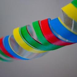 gekleurde slingers