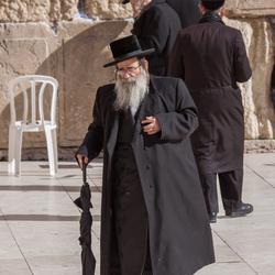de klaagmuur te Jeruzalem