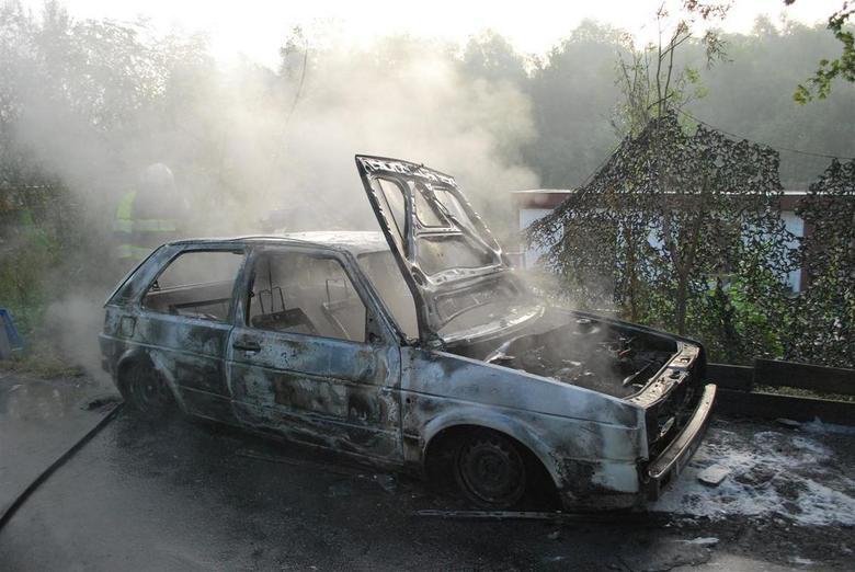 Burned........ - In de vroege morgen afgebrand en geblust door de brandweer...