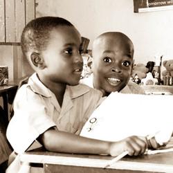 Schoolkinderen op Jamaica