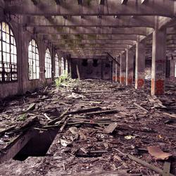 Verlaten meelfabriek (FR)