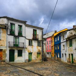 straatje in dorpje in Noord Spanje