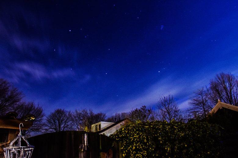 Nachtelijke bewolking - Mooi effect met die wolken