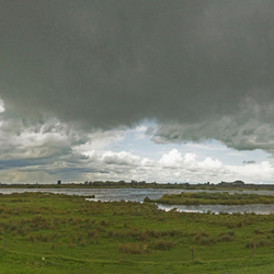 panorama langs de Lek