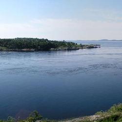 Saltstraumen vanaf de noord oever