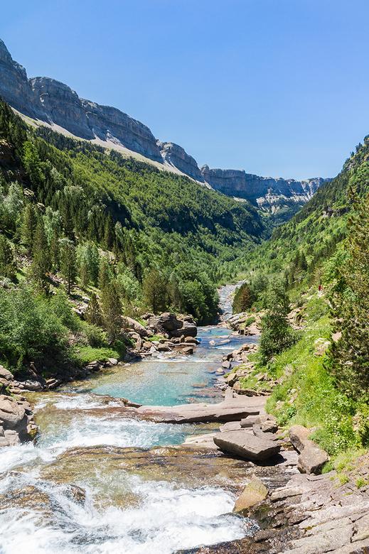 Rio Azaras - De Rio Azaras in de Ordesa. Het Nationaal park Ordesa y Monte Perdido is een van de mooiste gebieden in de Pyreneeën. Een plek waar ik al