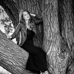 In een boom