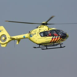 Traumahelicopter op Texel