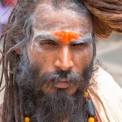 man in Rishikesh (India)