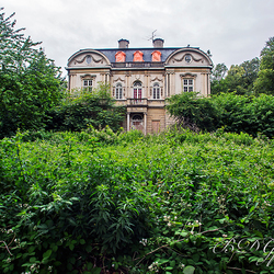 Oud verlaten landhuis