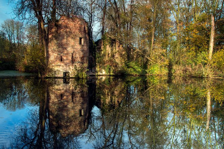 Reflections - Het blijft een prachtig gezicht, de oude ruïne tussen de bomen. De natuur heeft hier vrij spel.<br /> Het Kasteel Brakel, waar de ruïne