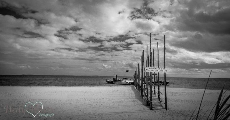 Boot naar Vlieland - De boot naar Vlieland op Oost, Texel