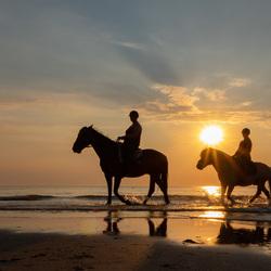 Beautiful sunset on the beach...