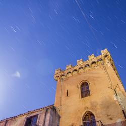 Night Sky above old monastry