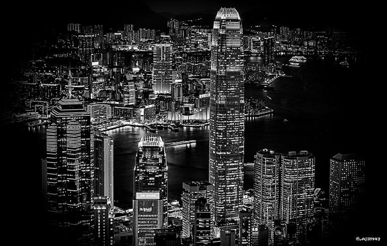 Hong Kong. - Hong Kong vanaf de Peak.