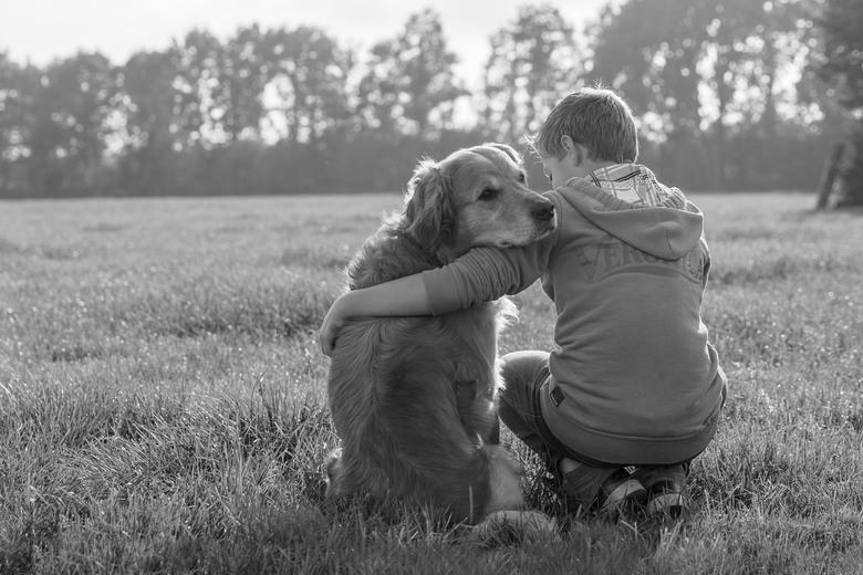 Kind en hond - Mijn hond is mijn beste vriend<br /> Hij luistert altijd, hij begrijpt mij altijd<br /> Hij pest me niet, hij lacht me nooit uit<br /