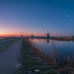 Panorama view Kinderdijk