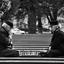 Riga, Letland, schaken in de vrieskou