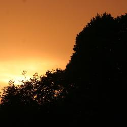 Zonsondergang midden in Eindhoven