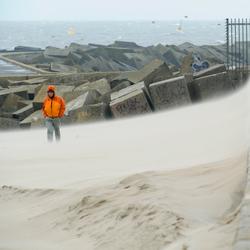 Zandstorm Scheveningen haven