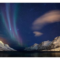Noorderlicht boven Ersfjordbotn