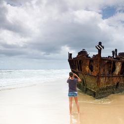 Fotografe op Fraser Island Australie