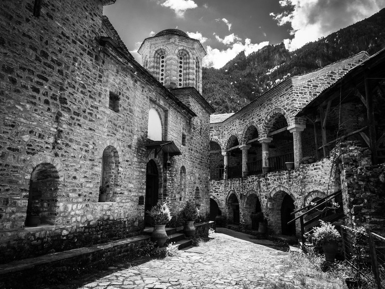 Klooster in de bergen -