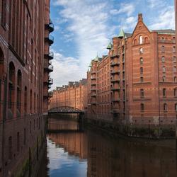 De oude haven van Hamburg