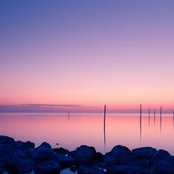 fuik stokken Ijsselmeer sunrise.jpg