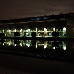 Figee pand bij nacht, Haarlem