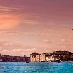 Venetië uitzicht van de boot