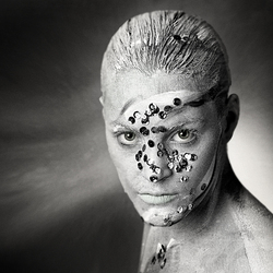 bodypainted man