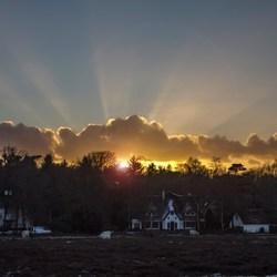een koude zonsondergang