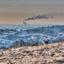 Een van de weinig koudedagen van de afgelopen winter. Deze foto toont het glooiende landschap van Nationaalpark Veluwezoom en de vuilverbrandingsoven van Duiven. Hier gaan natuur en industrie hand in hand.