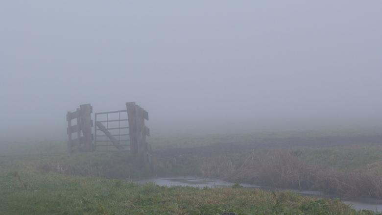 Voorbij de mist... - Optrekkende mist.