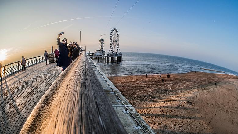 selfie op de Pier