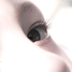 high-key eye