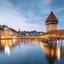 Luzern in het blauwe uur.