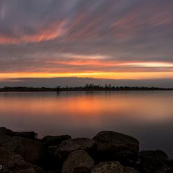 zonsondergang langs de Rijn