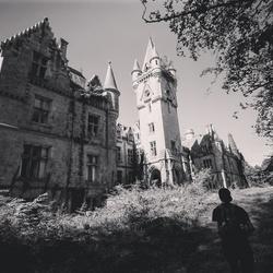 Verlaten kasteel.
