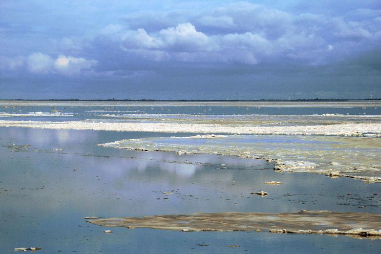 IJs en stilte aan de kust - Vanmiddag aan de kust van Eemsdelta<br /> Veel ijs en sneeuwschotsen en spiegelgla dwater