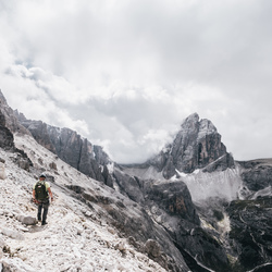 Between peaks.