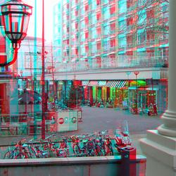 Korte Hoogstraat vanaf Bordes Schielandshuis Rotterdam 3D