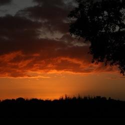 Het moment voor zonsondergang